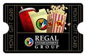 $25 REGAL MOVIE THEATRE GIFT CARD
